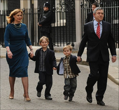 Gordon Brown leaves Downing Street...