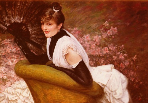 Portrait of Lady with a Fan by James Tissot