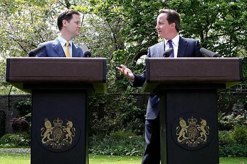 Nick Clegg and David Cameron 'you never promised me a rose garden...'