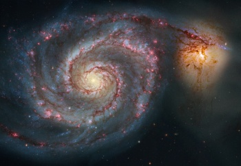 Spiral Nebula NGC 5194 (Hubble)