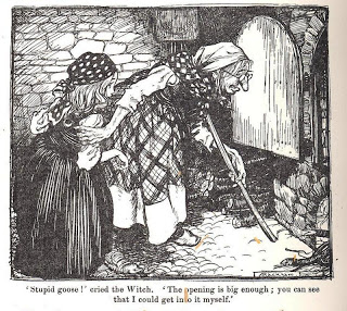 The witch in Hansel and Gretel had the right idea of how to deal with pesky trick-or-treaters...