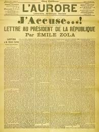 Emile Zola's famous open letter to the President of France accusing the authorities of a deliberate cover-up of evidence in the case