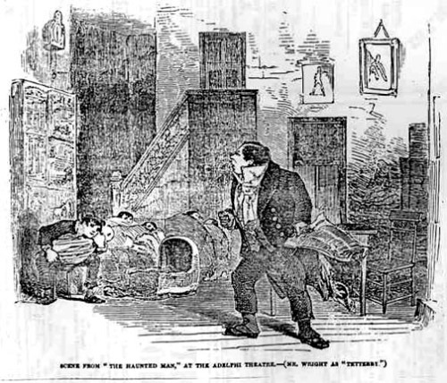 Charles Dickens' The Haunted Man and the Ghost's Bargain at the Adelphi, in the Illustrated London News, 30 December 1848