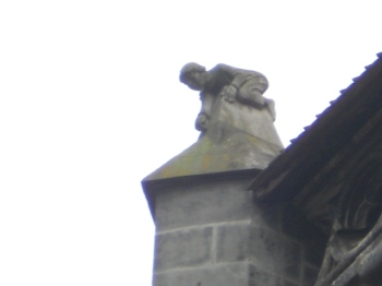 Statue of a boy on the roof of the Black Church