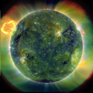 Full disk multiwavelength extreme ultraviolet image of the sun taken by SDO - NASA