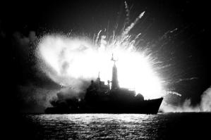 The bombing of HMS Antelope