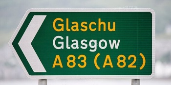 Typical road sign in Gaelic and English...but not in Scots.