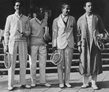 France's Four Musketeers - Jacques Brugnon, Henri Cochet, René Lacoste and Jean Borotra