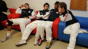 The New Musketeers - Jo-Wilfried Tsonga, Gilles Simon, Gael Monfils and Richard Gasquet