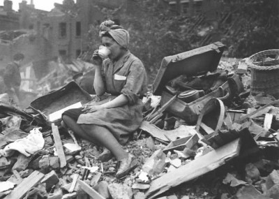 London 1944 - it wasn't only men who kept a stiff upper lip...