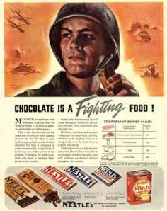 Even chocolate was rationed...barbaric!!