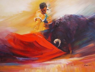 Painting credited to 'Matador Painter'