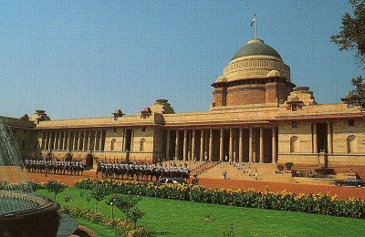 Rashtrapati Bhavan in New Delhi, formerly known as Viceroy's House, was designed by Sir Edwin Lutyens.