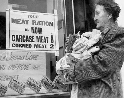 Post-war food rationing...