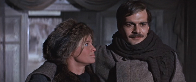 Omar Sharif and Julie Christie in the film of the book. Lara was based on Ivinskaya, Pasternak's long-term mistress.