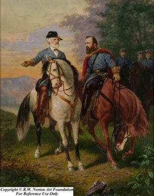 "Last meeting of Generals Robert E Lee and Thomas J ""Stonewall"" Jackson"