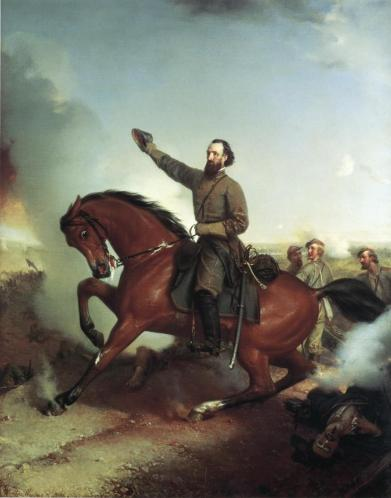 Stonewall Jackson at the Battle of Wiinchester, Virginia  by Louis Mathieu Didier Guillaume