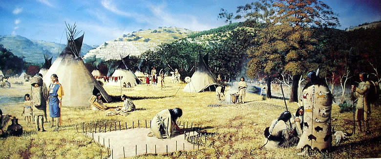 Apache Encampment in the Texas Hill Country by George Nelson
