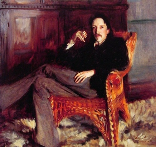 Portrait of Robert Louis Stevenson by Sargent