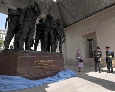 The unveiling of the memorial to RAF Bomber Command in Green Park, London