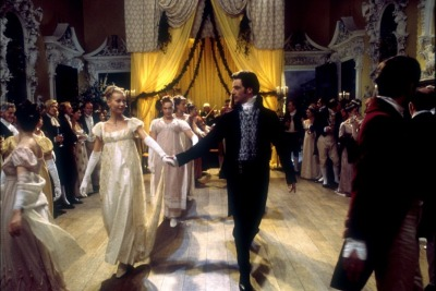 Emma and Mr Knightley lead the dance...