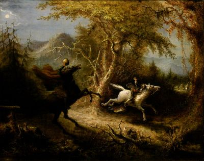 Headless Horseman Pursuing Ichabod Crane by John Quidor