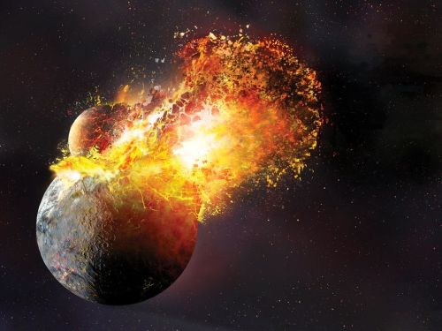 Giant Impact Hypothesis for creation of the Moon Pciture credit: National Geographic