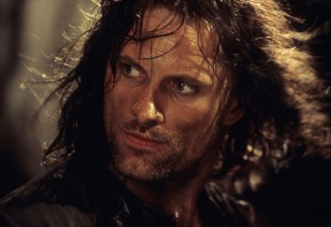 Viggo Mortensen in a scene from THE LORD OF THE RINGS: THE FELLOWSHIP OF THE RING, 2001.