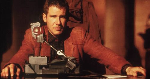 Harrison Ford in Blade Runner - the film of the book, more or less. This photo is especially for the benefit of BUS...