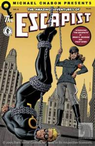 Some comic books based on The Escapist were produced by Dark Horse Comics, each including a storyline written by Chabon himself. All the covers shown are from this series.