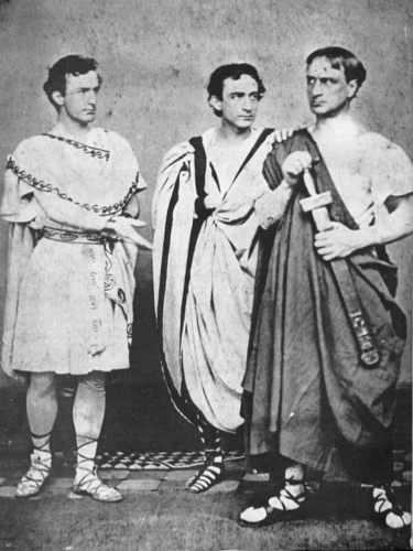 John with his actin brothers Edwin and Junius, Jr., in Julius Caesar