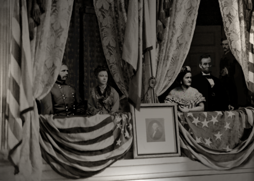 Depiction of the assassination of Abraham Lincoln. From Wikipedia.