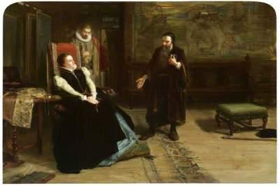 Knox haranguing Mary Queen of Scots by Robert Inerarity Herdman