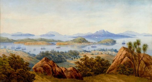 Parnell and Auckland Harbour c.1870 by John Barr Clarke Hoyte