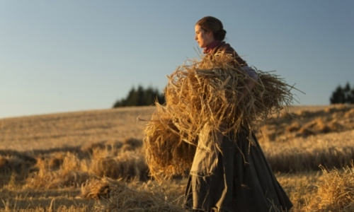 Agyness Deyn as Chris in the new movie adaptation of Sunset Song