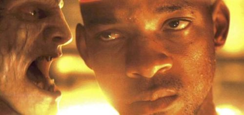 Will Smith in I Am Legend (2007) which is nothing like the book and completely misses the point.