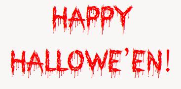 Happy Hallowe'en!