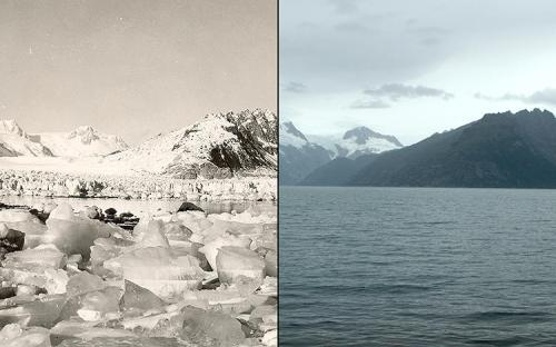 North Western Glacier Alaska - 1940 and 2005