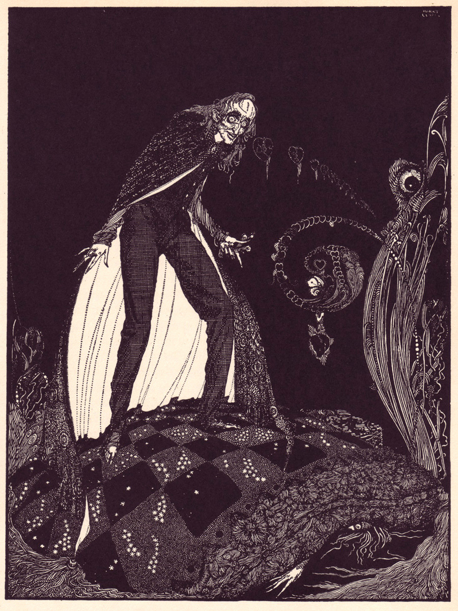 tuesday terror the tell tale heart by edgar allan poe illustration by harry clarke