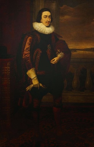 Prince Charles, later Charles I by Daniel Mytens