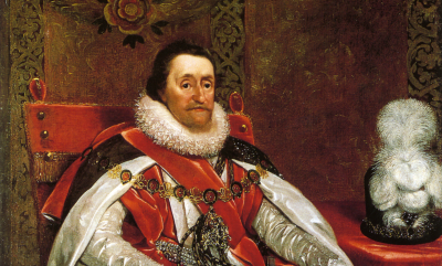 James VI and I by Daniel Mytens