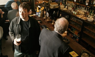 Ian Rankin in Rebus favourite pub, the Oxford Bar. Photograph by Murdo Macleod