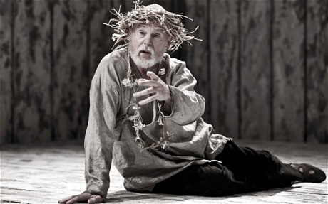 Derek Jacobi playing King Lear at the Donmar Warehouse Photo: Johan Persson