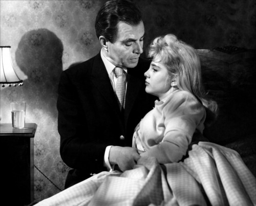 James Mason as Humbert with 18-year-old Sue Lyon as Lolita
