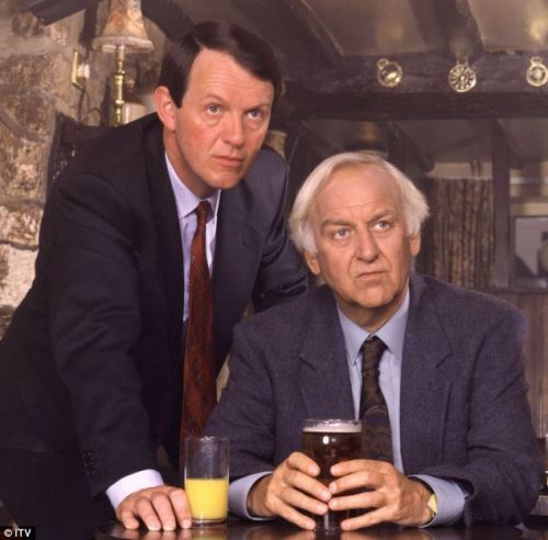 John Thaw and Kevin Whateley as Morse and Lewis