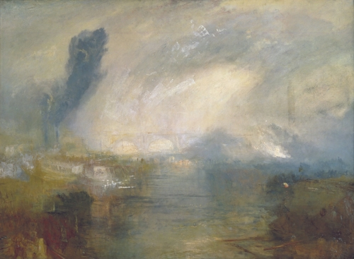 The Thames above Waterloo Bridge by JMW Turner 1835