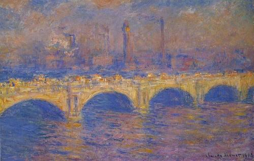 Waterloo Bridge Sunlight Effect No. 4 by Claude Monet