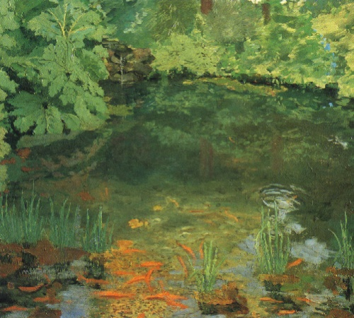 Churchill the artist - The Goldfish Pool at Chartwell 1932