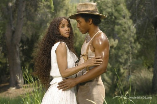 Michael Ealy and Halle Berry, looking incredibly glamorous for a hard day's bean-pickin'...