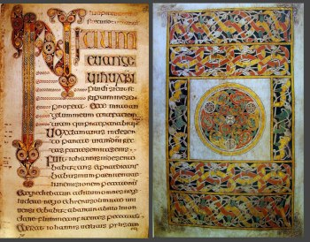 The Book of Durrow, dating to approximately the time of Fidlema's visit
